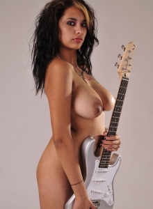 Sexy Nicole Teases With Just A Guitar Covering Her Sexy Completely Naked Body - Picture 6