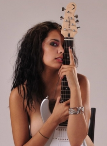 Sexy Nicole Teases With Just A Guitar Covering Her Sexy Completely Naked Body - Picture 12